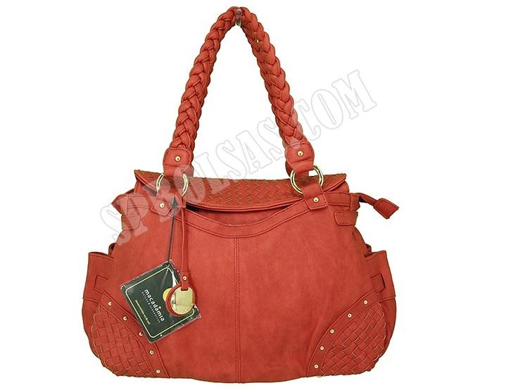 Bolsas Macadâmia | Bolsas Feminina Macadâmia MCB12025 Vermelha  - Veja este e mais outros modelos em nosso site:  http://www.spbolsas.com.br