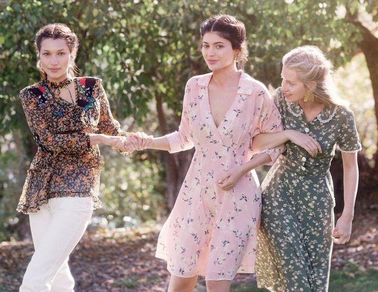 Bella Hadid, Kylie Jenner en Lottie Moss voor Vogue US