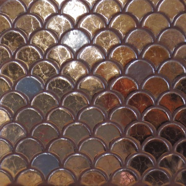 Moroccan fish scales by mercury mosaics great color for Fish scale backsplash