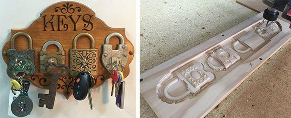 FREE CNC Project:Key Holder #keys #wood #Keyholder #free #cnc #cncproject #vectric #aspire #make #free