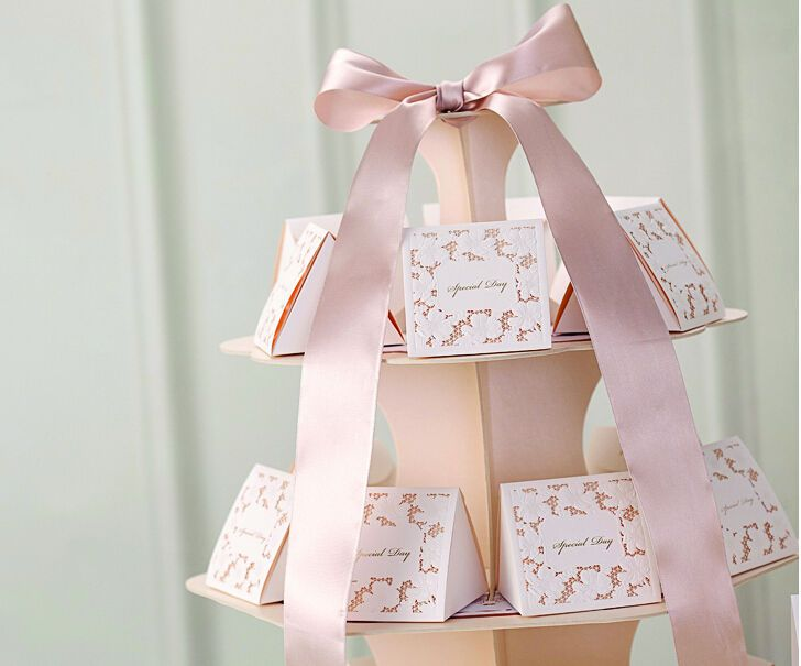 Luxury Wedding Favours Sweets Boxes Bags Table Decorations Ivory Lace Flower
