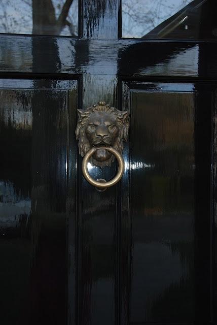 classic black door -- love the high gloss shine