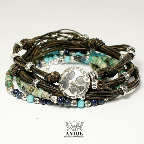Dark Side (brown) - komplet bransolet / Anioł / Biżuteria / Dla mężczyzn