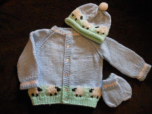 Ravelry: cre8aknit's Sheep Baby Set