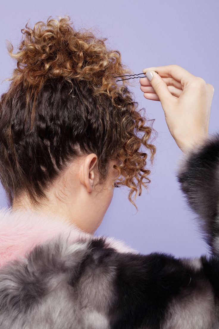 Bored With Your Hair? Try One Of These Cool Styles #refinery29  http://www.refinery29.com/how-to-style-curly-hair#slide-4  Flip over your ponytail toward the front of your hair, and arrange with your fingers until it blends with the front section. Secure in place with pins. Push the curls in the front forward, and pin them so they lay like fringe on your forehead....