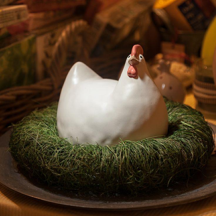 Chic Ville | Coronita rotunda din plastic verde 20 cm