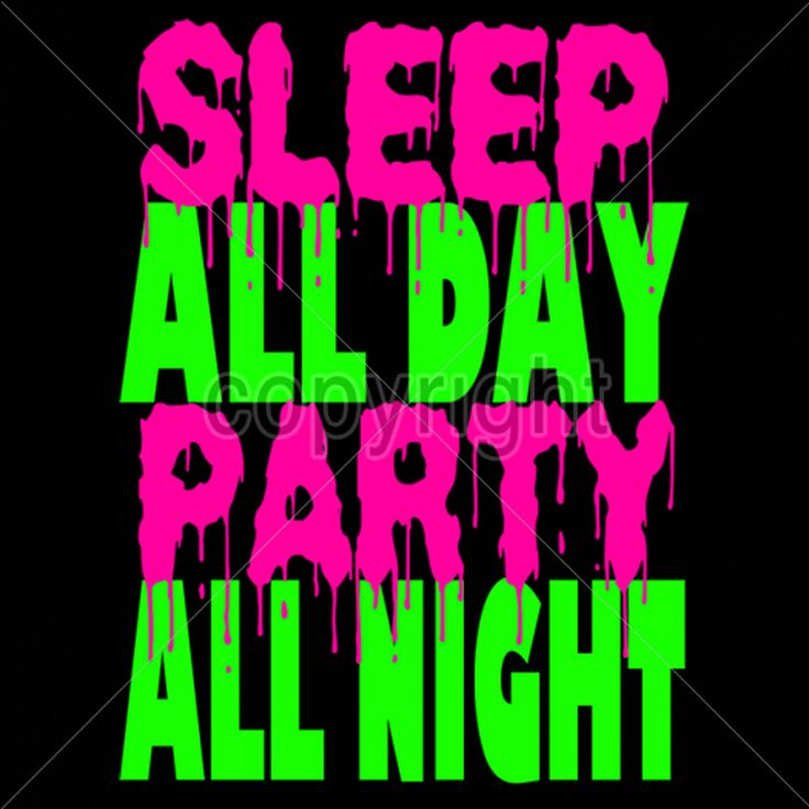Rave Party All Night Neon T shirt  Dancing Drinking S to 6X Large Free Shipping #TShirtsRule #GraphicTee