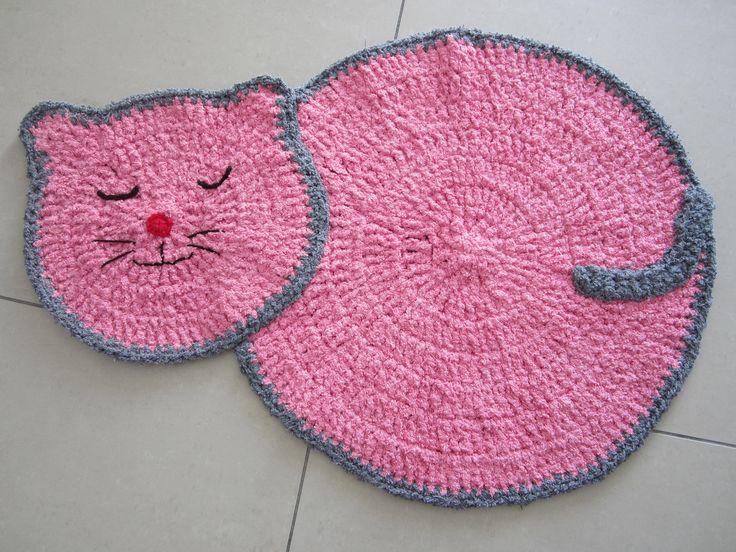 tapis chat fait la main au crochet tapis chambre enfant tapis
