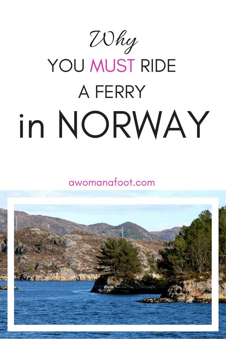 When in Norway you MUST take a ferry ride! Don't believe me? Just look at those photos! awomanafoot.com | #Norway #Scandinavia #fjords