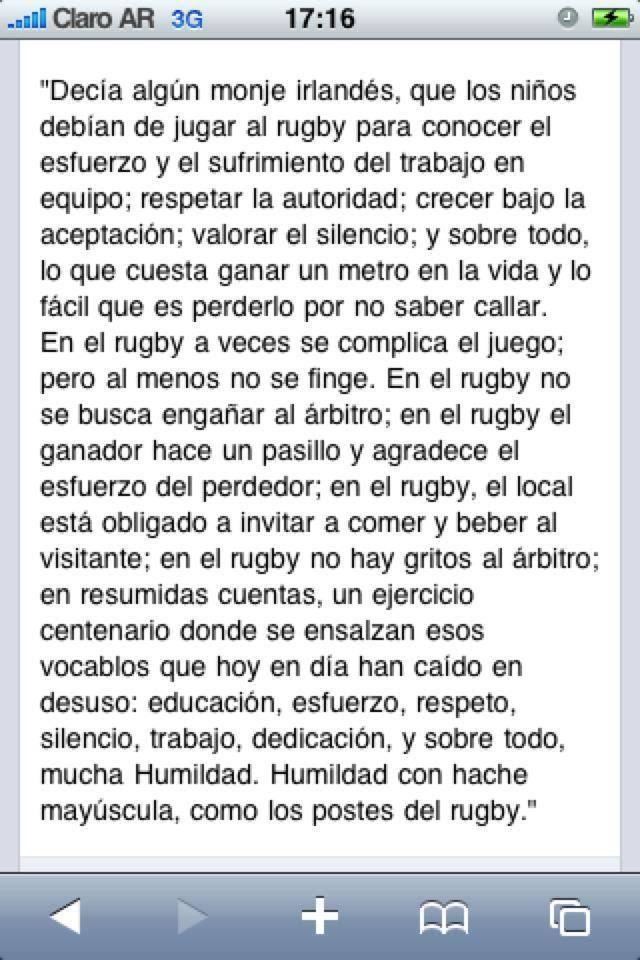 Yo jugué rugby y aprendí :)