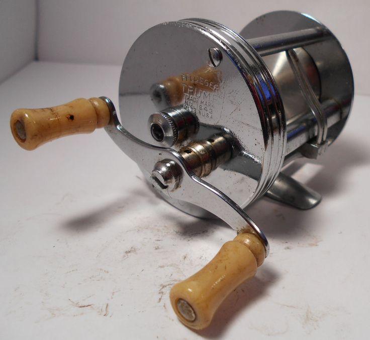 Vintage pflueger trump no 1943 usa baitcasting baitcast for American made fishing reels