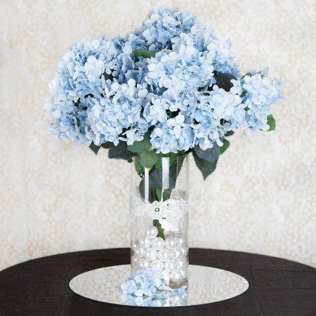 BalsaCircle 28 Silk Hydrangea Flowers for Wedding Party Centerpieces - Walmart.com