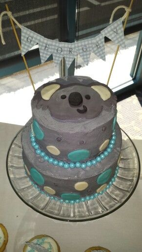 Koala baby shower cake that I made for a friends daughter. Congrats!