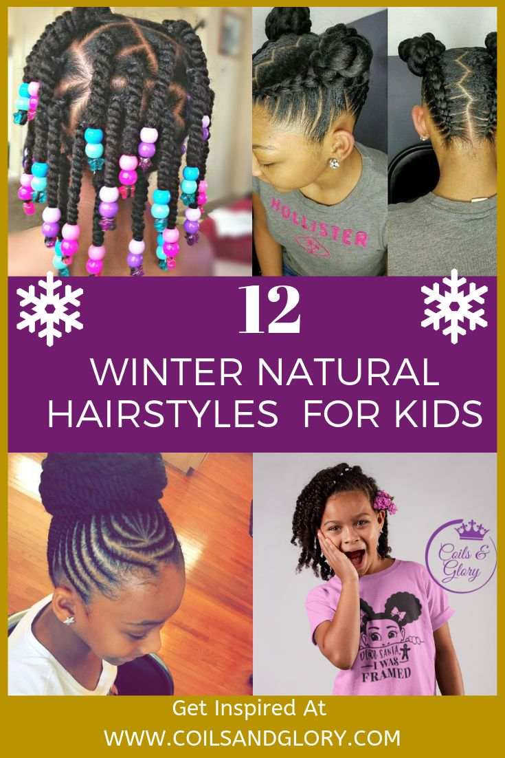 In this post, I will be providing some hairstyle ideas you can style your daughter's hair in for the winter. These hairstyles are suitable for kids of all ages and temperament level, as well as all hair length and curl type.