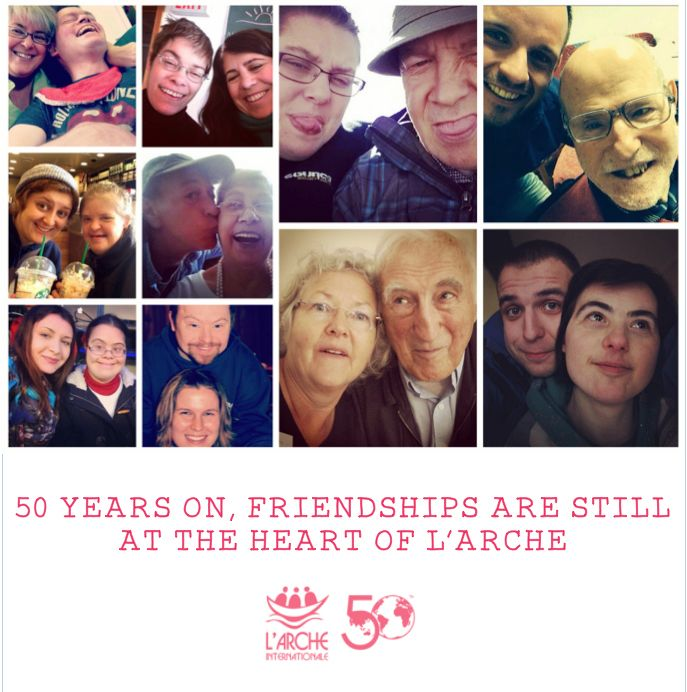 As we celebrate our 50th anniversary, a beautiful reminder of what is at the heart of L'Arche – #friendship!