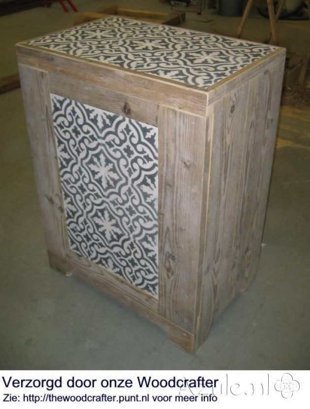 Cement Tiles Furniture - negra 01 - Project van Designtegels.nl