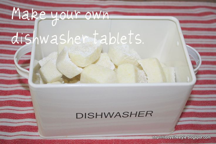 How to make your own dishwasher tablets ... you've got to be kidding!