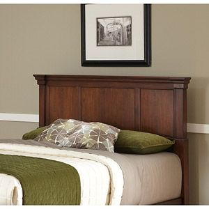 Home Styles The Aspen Collection Queen/Full Headboard, Rustic Cherry/Black