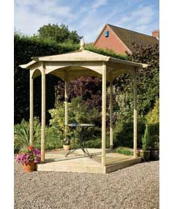 Buy Grange Fencing Budleigh Hexagonal Gazebo Bandstand at Argos.co.uk, visit Argos.co.uk to shop online for Gazebos, marquees and awnings