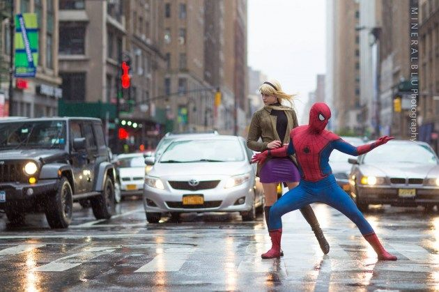 Gwen Stacy & Spider-Man Cosplayer : Jenki Cosplay and D-Piddy  photo : Mineralblu Photography   #cosplay #GwenStacy #SpiderMan