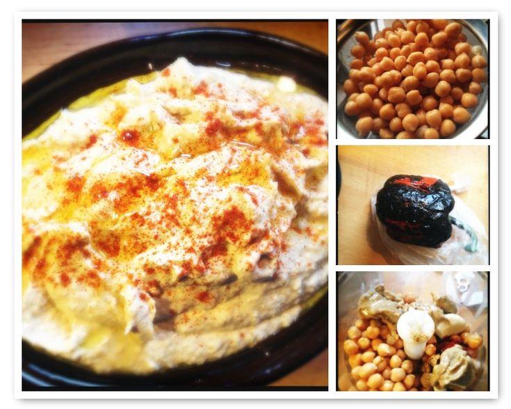 Recept hummus met geroosterde paprika