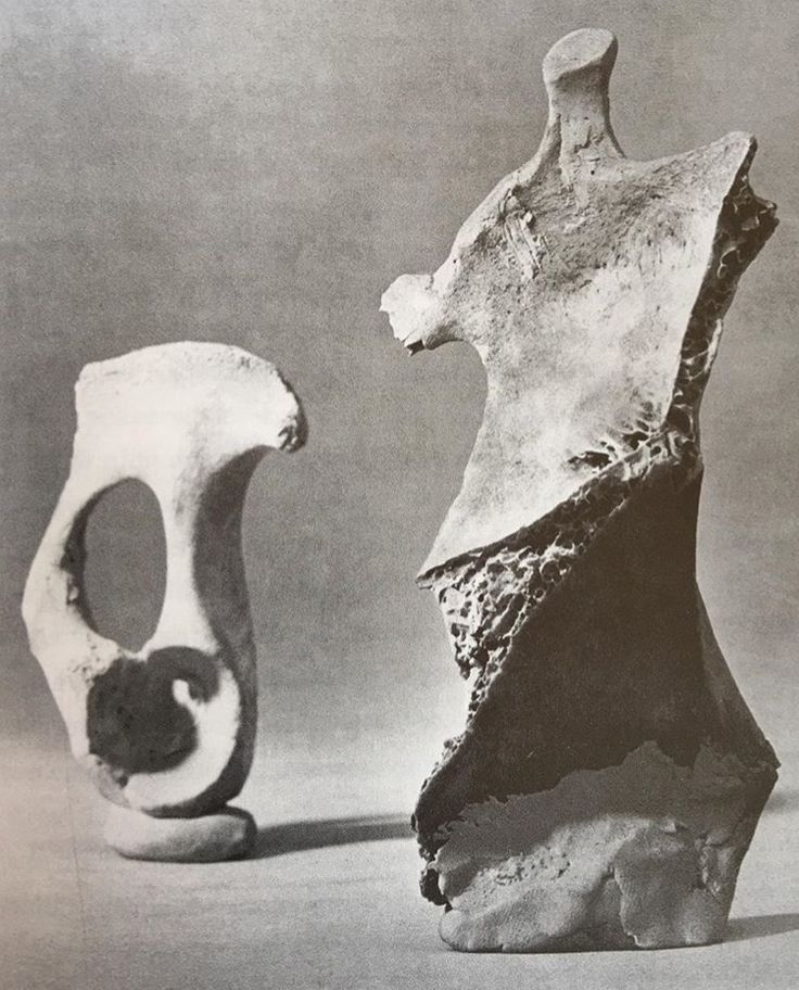 Henry Moore (bone and clay)