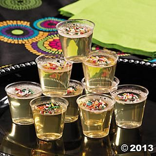 Champagne jello shots recipes party decoration favor for Arabian decoration materials trading