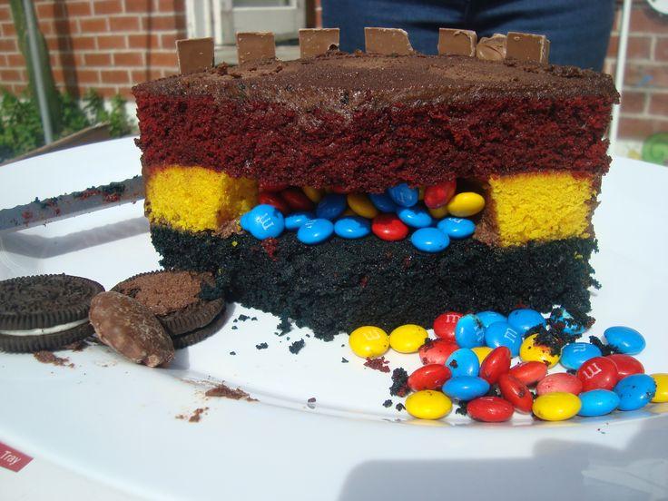 Pinata Kitkat cake!  Highlanders cake.