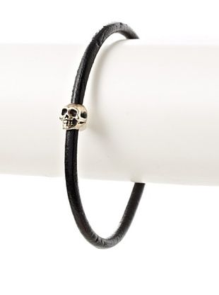 54% OFF Mateo Bijoux Le Sauvage Leather Skull Bracelet