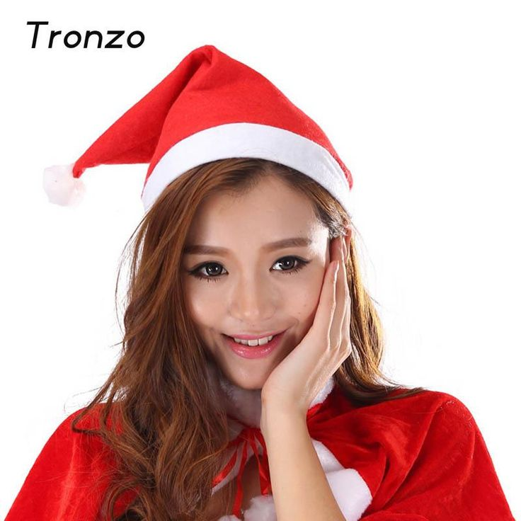 Tronzo Santa Claus Hat Christmas Caps Home Party Decoration For Adult And Children Navida Festival Costume Supplies