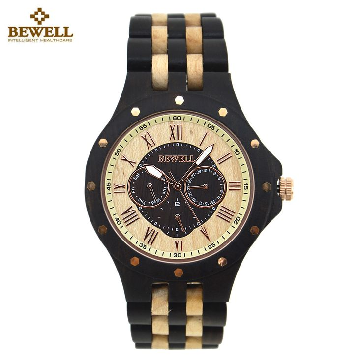 BEWELL Wooden Watch for Men Unique Business Design Wood Watches Men Top Luxury Quartz Watches With box saat relogio masculino