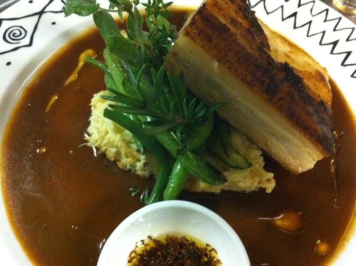 Pork Belly in Rooibos Sauce at Arnolds on Kloof Cape Town