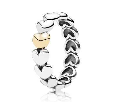 Pandora Large Heart Ring 190898 at John Greed Jewellery