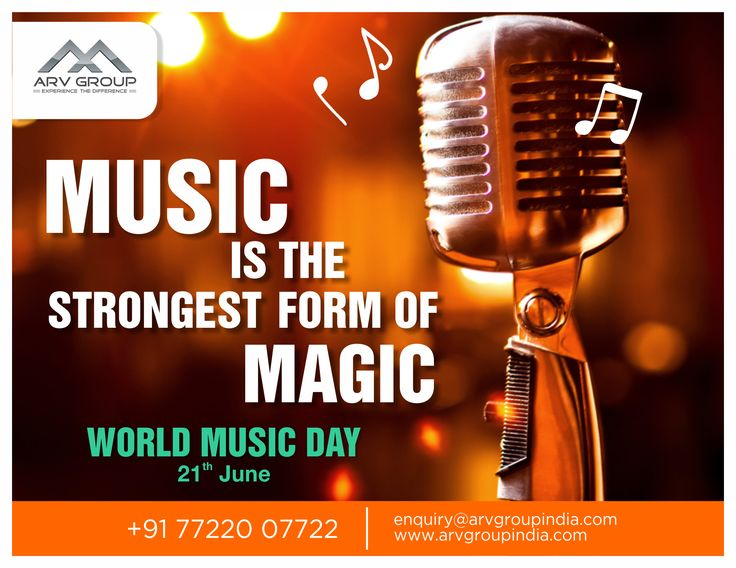 Music is the strongest form of magic... #WorldMusicDay