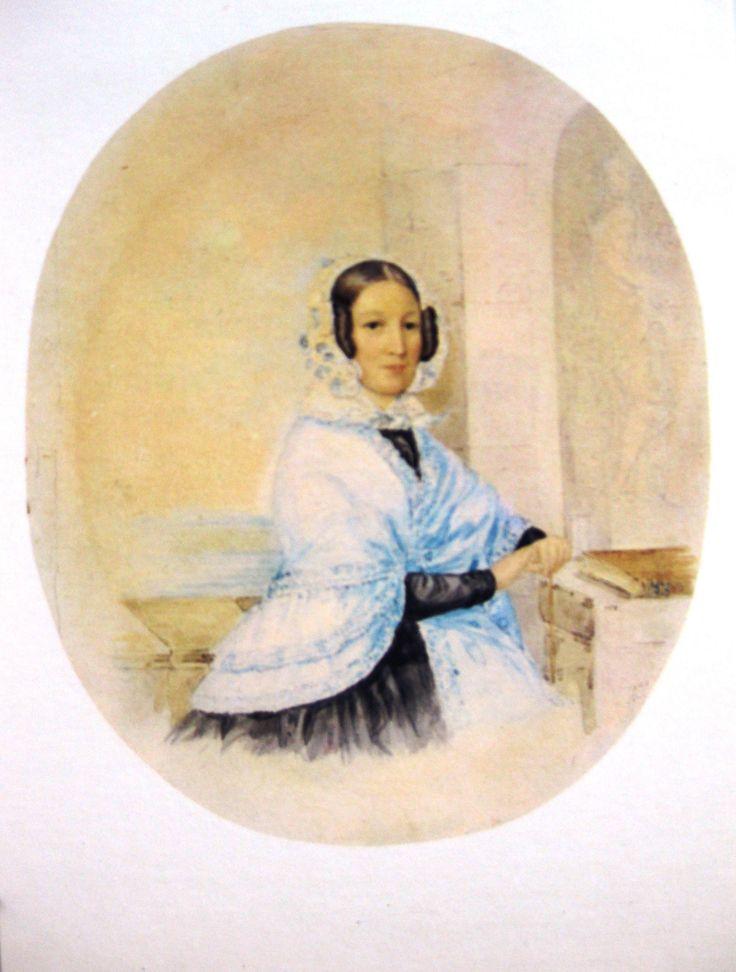 Павлищева (ур. Пушкина) Ольга Сергеевна 1797-1868 (н)-сестра А.С.Пушкина