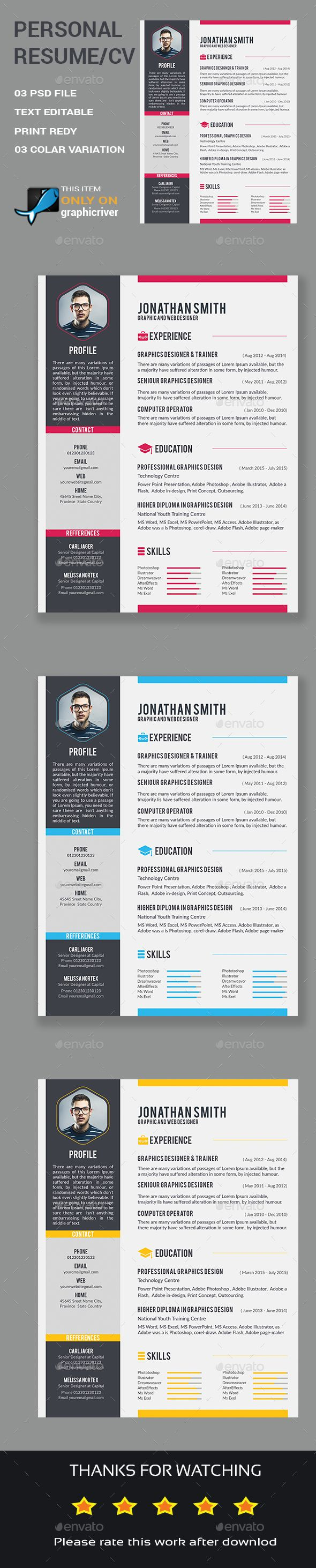 Best Cv Images On   Resume Design Page Layout And