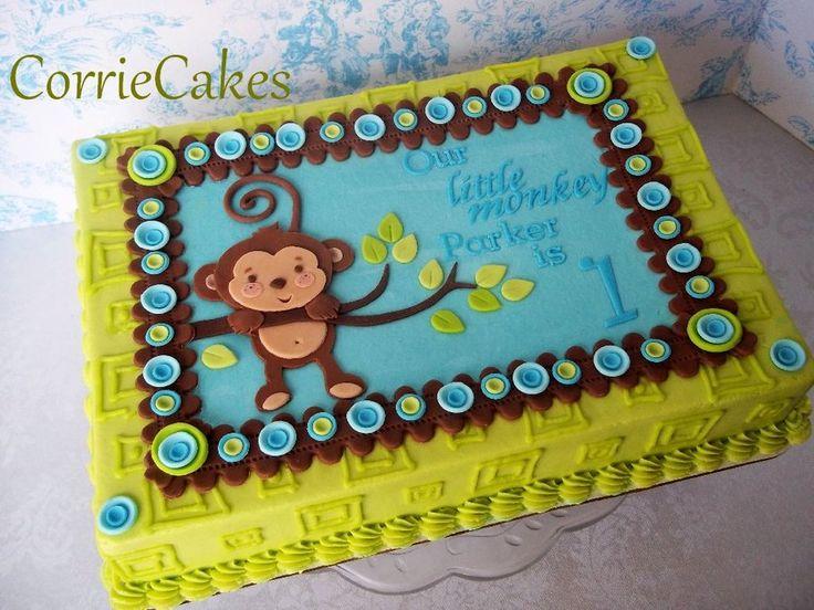 Monkey 1st birthday - by Corrie @ CakesDecor.com - cake decorating website