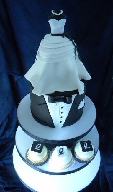 wedding gown and tuxedo cake crafty cakes cupcakes pinterest cake tuxedo cake and wedding shower cakes