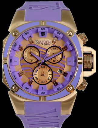 RELOJ TECHNO SPORT GOLD PURPLE