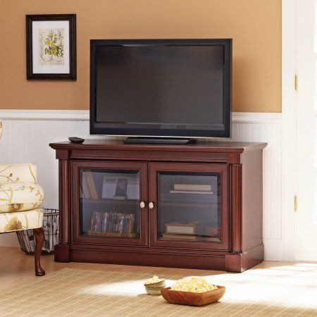 Better Homes and Gardens Ashwood Road Cherry TV Stand, for TVs up to 47 inch, Brown