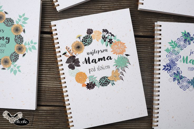 Najlepsza Mama pod słońcem, notatnik A5 z eko papieru na Dzień Matki
