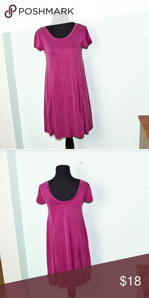 American Eagle Magenta Colored Flowy Dress In excellent condition! WORN ONCE FOR TWO HOURS. Very comfortable, stretchy, and lightweight! Buy 3 items and get 1 free plus 15% off your purchase total! American Eagle Outfitters Dresses Mini