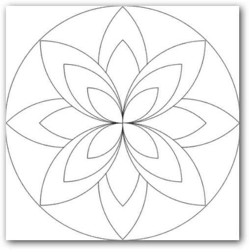Fotos o Imágenes | Mandala de diseño fácil