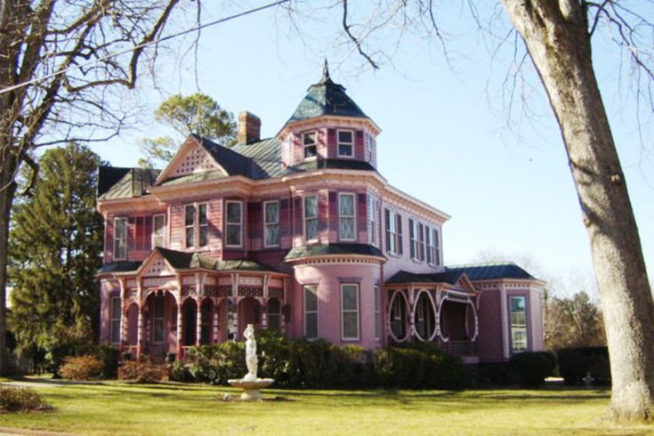 Queen Anne With Many Varieties Of Architectural Features The House