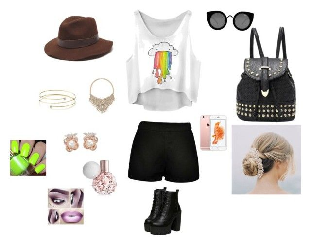 """""""Day out"""" by alexamer ❤ liked on Polyvore featuring moda, Boohoo, Quay, Gottex, Bebe, Elsa Peretti e Anabela Chan"""
