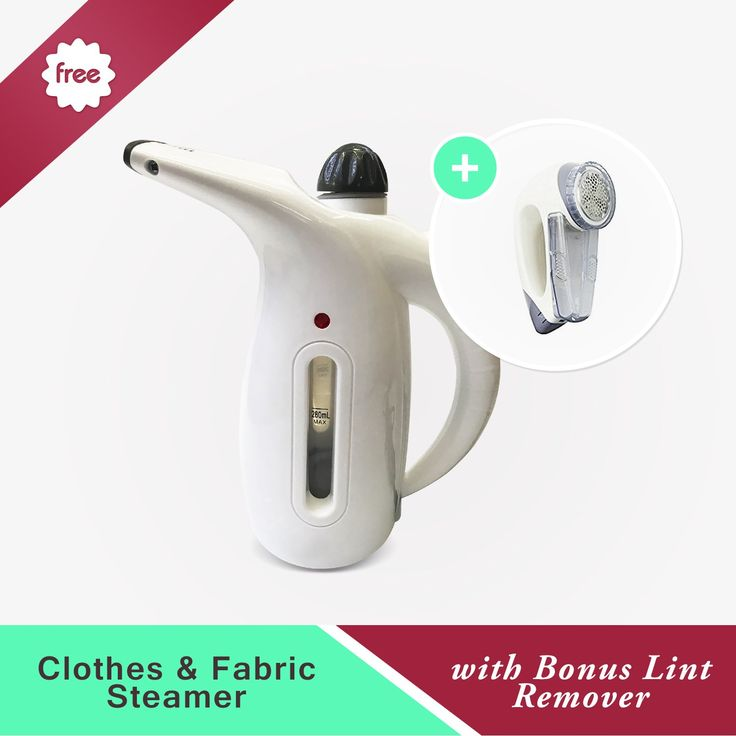 Clothes & Fabric Steamer with Bonus Lint Remover