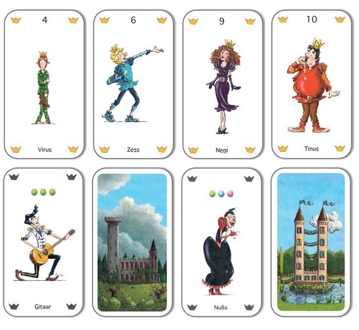 Twix kaartspel - de prinsen en prinsessen zijn getallen!