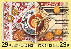 Почтовые марки совместного выпуска Российской Федерации и Аргентинской Республики «Делимся традициями»