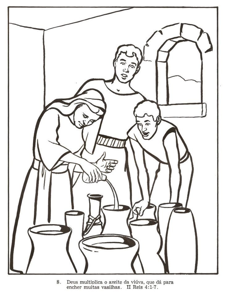 elijah and the widow coloring page - 783 1038 elisha widow 39 s oil pinterest
