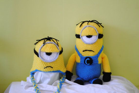 Amigurumi Earflap Hat : 60 best images about Minions assemble!!! on Pinterest ...